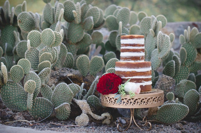 Scorpion Gulch Arizona wedding photography Cake